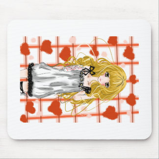 Love V day (Cute Girl) Mouse Pad