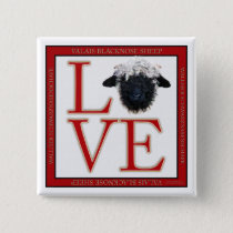 Love Valais Blacknose Sheep Square Button