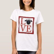 Love Valais Blacknose Sheep T Shirt