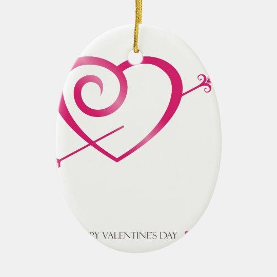 love  valentine hearts 2 ceramic ornament