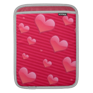 Love Valentine Hearts Pink Sleeve For iPads