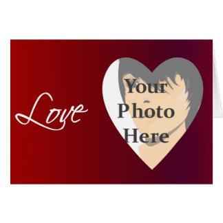 Love Valentine Photo Frame Card