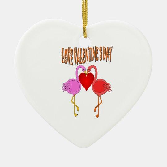 Love Valentine`s Day Ceramic Ornament