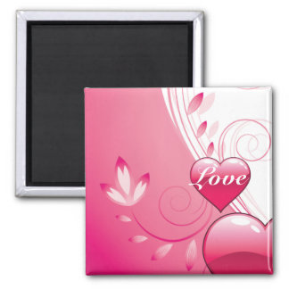 Love Valentine's Day custom gifts 2 Inch Square Magnet