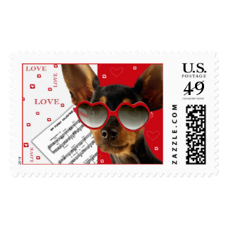 Love. Valentine´s Day Postage Stamp