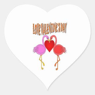 Love Valentine`s Day Heart Stickers