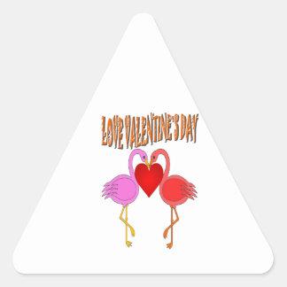 Love Valentine`s Day Triangle Stickers