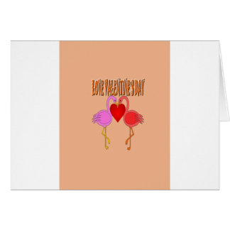 Love Valentine`s Day With Background Card