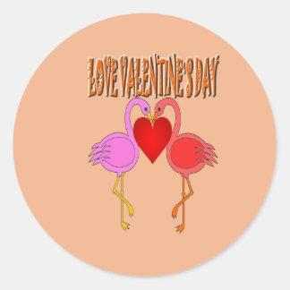 Love Valentine`s Day With Background Sticker