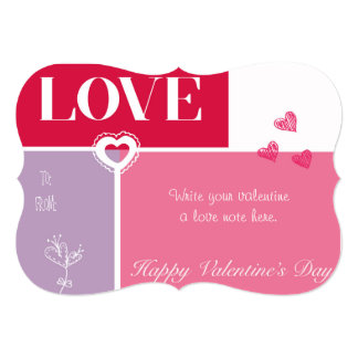 """LOVE"" Valentine's Day Card"