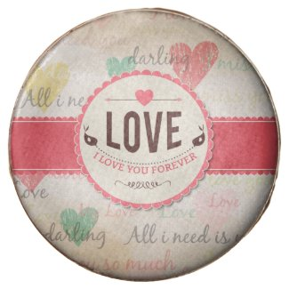 """""""Love"""" Valentines day design with hearts Chocolate Covered Oreo"""