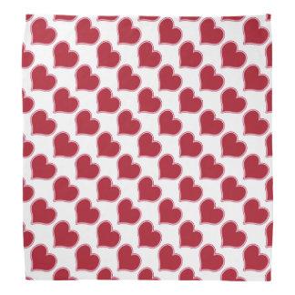 Love Valentine's Day Pink Red Hearts Pattern Bandana