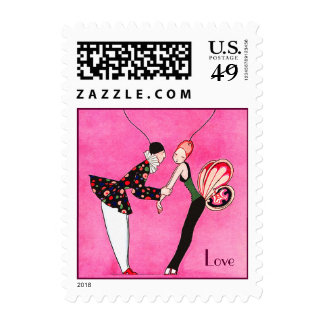 Love. Valentine's Day Postage Stamps