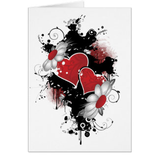 Love Valentine's Day Red Hearts Vector Valentine Greeting Card