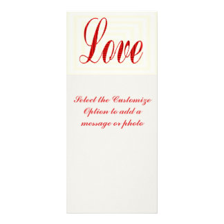 Love valentines rack card