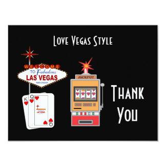 Love Vegas Style Black Thank You Card