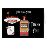 Love Vegas Style Black Thank You Cards
