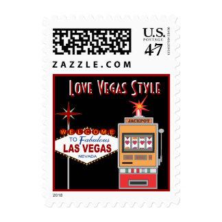 Love Vegas Style Black Wedding Postage