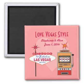 Love Vegas Style Save The Date Magnets