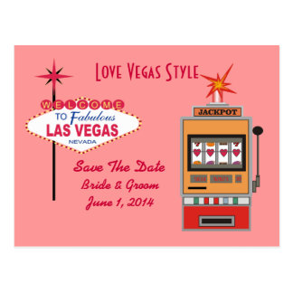 Love Vegas Style Save The Date Postcards
