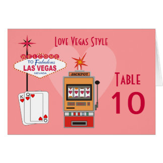 Love Vegas Style Table Cards
