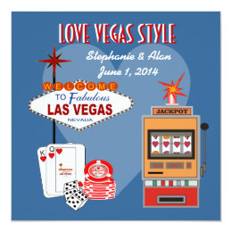 Love Vegas Style Wedding Invitation