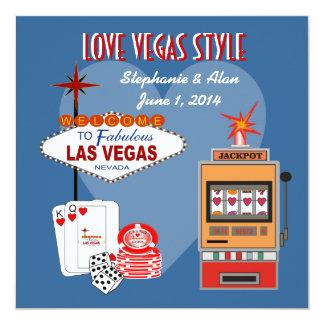 Love Vegas Style Wedding Invitation