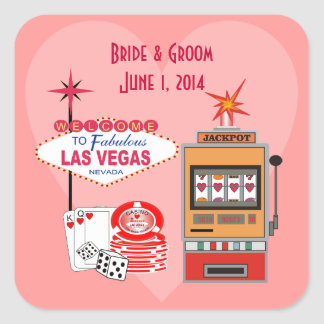 Love Vegas Style Wedding Stickers