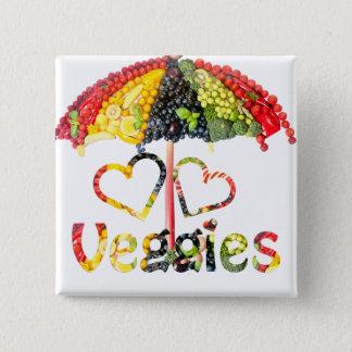 Love Veggies Button
