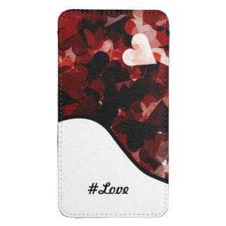 #love verdadero rojo y negro de la emoción de los bolsillo para galaxy s4