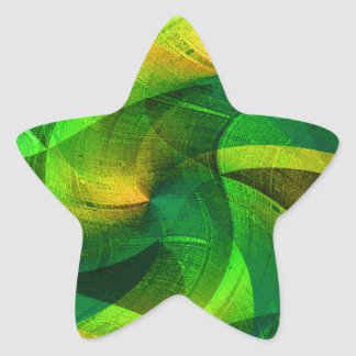 Love_ verde pegatina en forma de estrella