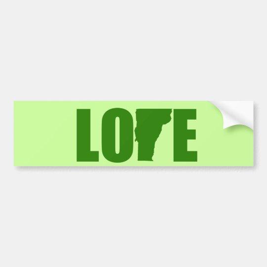 Love vermont bumper sticker
