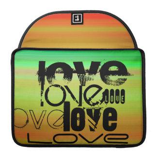 Love; Vibrant Green, Orange, & Yellow MacBook Pro Sleeves