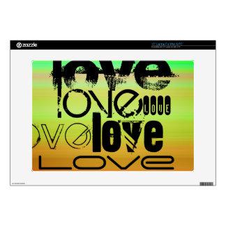 Love; Vibrant Green, Orange, & Yellow Decal For Laptop
