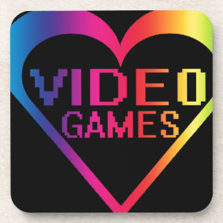 love video games drink coasters