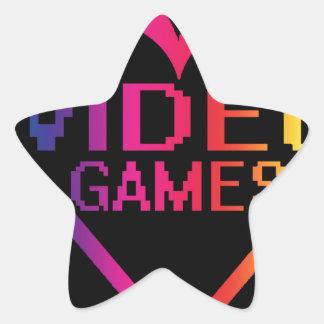 love video games star sticker