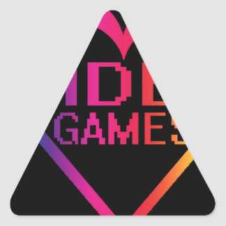 love video games triangle sticker