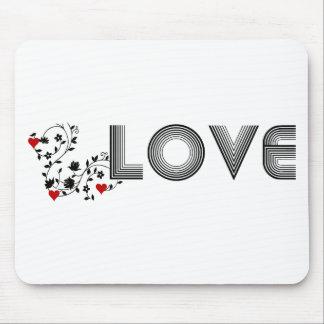 LOVE Vine with Hearts Mousepad Mouse Pad