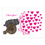 Love Vintage Cannon Card Post Cards