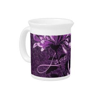 Love: Vintage Floral Beverage Pitcher