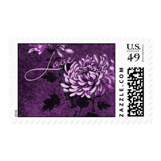 Love: Vintage Floral Stamp