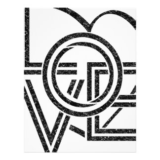 love vintage graphic design letterhead