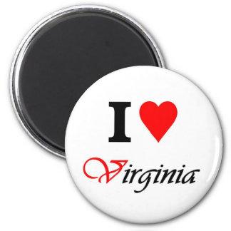 Love Virginia 2 Inch Round Magnet