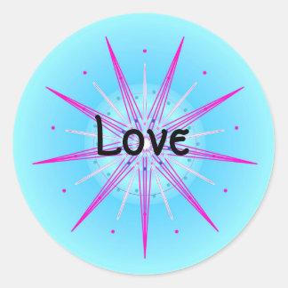 Love (Virtue sticker) Classic Round Sticker
