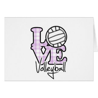 Love Volleyball Card