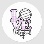 Love Volleyball Classic Round Sticker