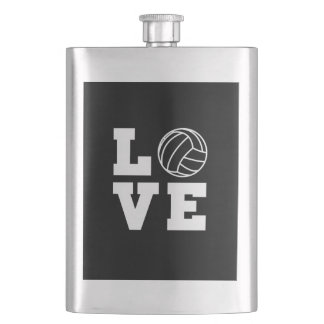Love Volleyball Hip Flask