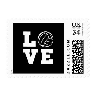 Love Volleyball Postage Stamp