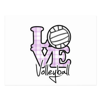 Love Volleyball Postcard