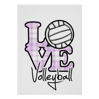 Love Volleyball Poster
